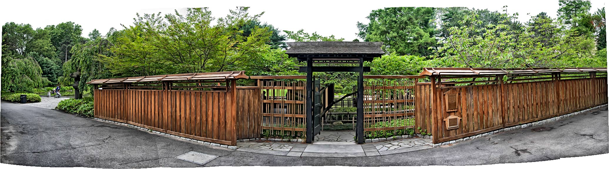 Japanese garden gate pano for Make a japanese garden gate
